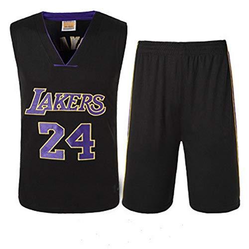 Zxwzzz NBA Lakers Baloncesto Ropa Traje Masculino, James Jersey Nº 23 Cavaliers, Kobe Bryant Camiseta con El Número 24, (Color : Black 24, Size : Small)