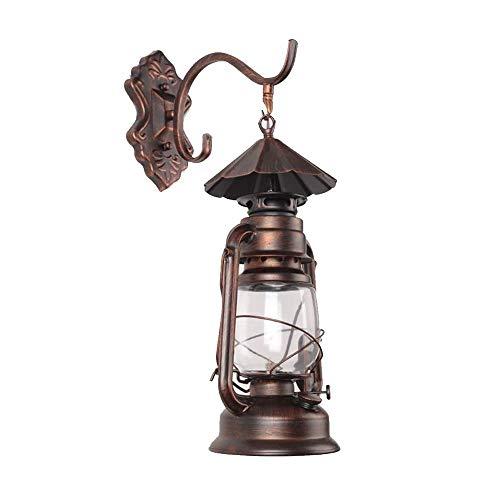Lampara de Techo Vintage Lámpara de Pared Antiguo Caballo de la Linterna lámpara de Pared del Pasillo Balcón Impermeable al Aire Libre China Nostálgico lámpara de keroseno Industrial Viento Retro Bar