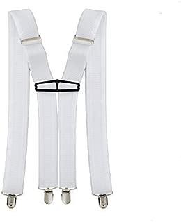 Prettyia Men/'s 35mm Wide Y-Back Adjustable Braces Clip-On Elastic Suspenders