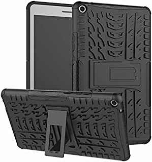 YHUISEN Hyun Pattern Dual Layer Hybrid Armor Kickstand 2 in 1 Shockproof Cover for Huawei MediaPad T3 8.0 inch 2017 Release (Color : Black)