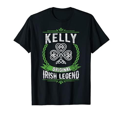 Kelly Name Irish Legend Shamrock Green St. Patrick\'s Day T-Shirt