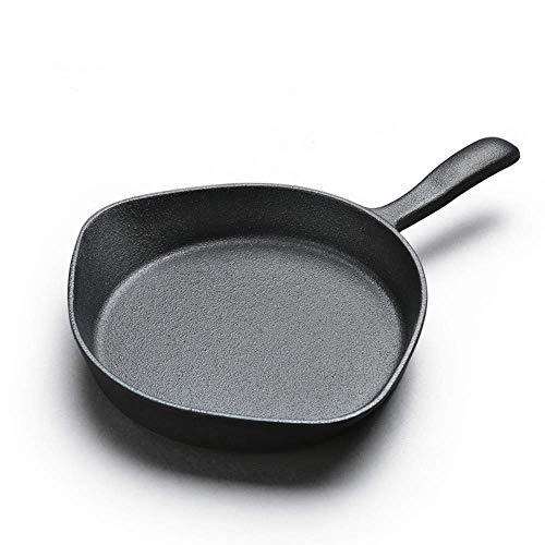 Olla del hogar, Utensilios de cocina Sartén antiadherente de hierro fundido sartenes sin tapa de olla de cocina de gas cacerola pequeña olla de huevo frito