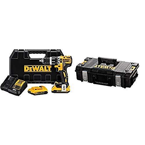 DEWALT DCD796D2 20V Max Bl Hammer Drill with DEWALT DWST08201 Tough System Case, Small