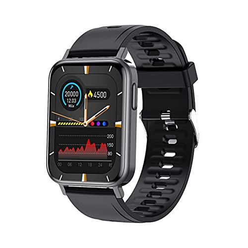 ZRY 2021 Smart Watch Hombre 1.65 Pulgadas Presión Arterial Presión Arterial Monitor De Ritmo Cardíaco Fitness Seguimiento Deportes Smartwatch Mujer para Android iOS,A