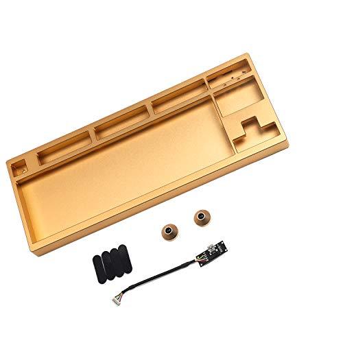 CNC-eloxiertes Aluminiumgehäuse für Filco 87 Cooler Master Stealth Tenkeyless mechanische Tastatur inkl. Tastatur-Gehäuse, abnehmbares USB-Modul (Gold)