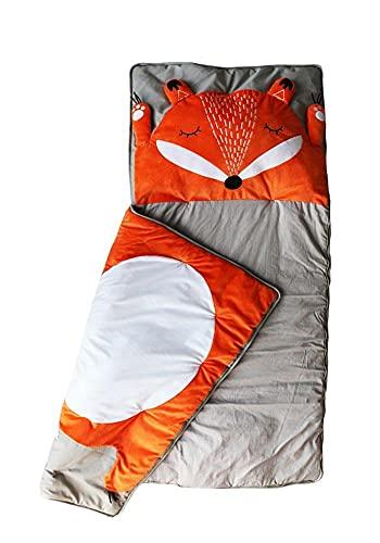 Kinderschlafsack Fuchs | Schlafsack für Kinder | Mumienschlafsack Leicht & Kompakt | 165x75cm