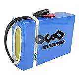 Unit Pack Power Fahrrad Akku 36V(37V) - Lithium Ionen Batterie PVC für 500W/250W Ebike Elektro Scooter Motorrad Boot 10S8P 720Wh (36V 20Ah)