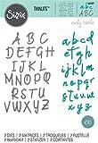 Sizzix Set di Fustelle Thinlits 2 pz Alfabeto by Emily Tootle, Multicolore, taglia unica