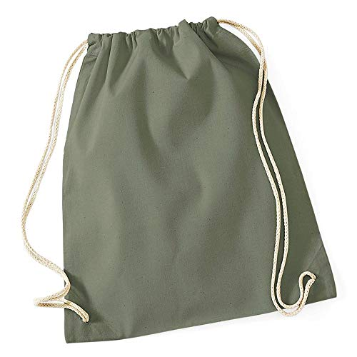 Westford Mill - Cotton Gymsac/Olive Green, 46 x 36 cm