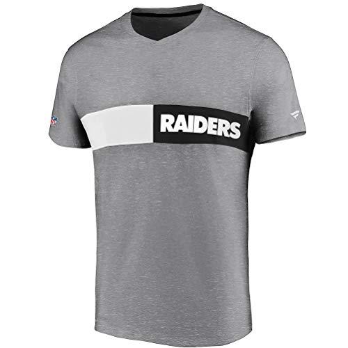 Fanatics NFL Oakland Raiders Iconic Past & Present - Camiseta, color gris gris L