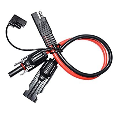 Scicalife 10 AWG SAE Adapter Solar Extension Connector Cable with SAE Polarity Reverse Connector for RV Solar Panel Systems Solar Power Generators