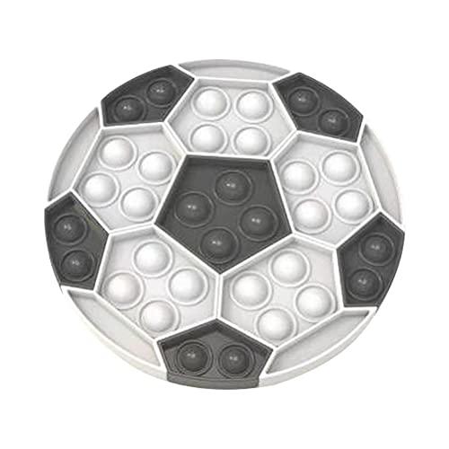 spier Push Bubble Zappeln Spielzeug, Fußball Form Poppet Zappeln Sensory Bubble Zappeln Squeeze, Stressabbau Angstabbau Spielzeug für Kinder Erwachsene