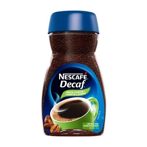Nescafe Decaf, café 100% puro soluble descafeinado, 170 gramos