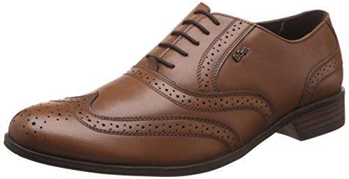 Lee Cooper Men's Tan Leather Formal Shoes - 8 UK/India (42 EU)