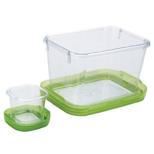 OXO 1265180 - Caja para conservación de Alimentos (1,3L), Color Verde