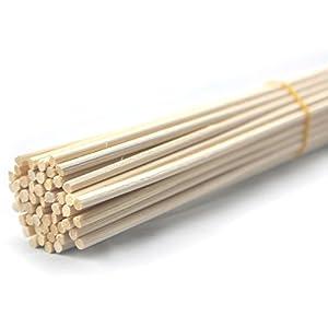 Ougual 50 Piezas Palos de Difusor Reed Varillas de Reed de Rattan de Madera Varillas Difusor de Aroma de Aceite Esencial (30cm x 4mm)