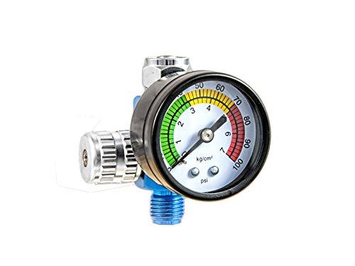 T4W Druckregler mit Manometer für Lackierpistolen (59405)