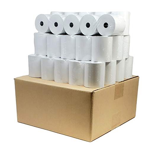 """(Reseller 50 GSM Paper Thickness) 3 1/8"""" x 230' (150 Rolls) Thermal Paper Cash Register POS Paper Rolls For Clover Citizen Star Micronics Printer Paper Bpa Free 318230 - BuyRegisterRolls"""