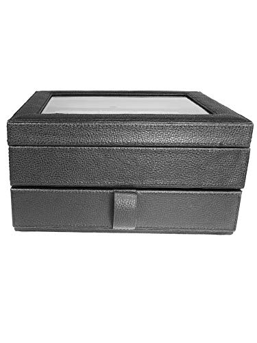 Fossil MLG0642 Uhrenkassette Watch Box Leder Uhrenbox für 10 Uhren Schwarz