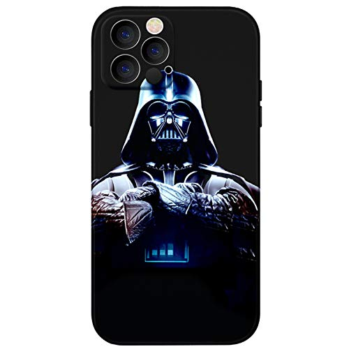 iPhone 12 Pro Max case,Darth Vader Star Wars Soft Slim Flexible TPU Cover with Full HD+Graphics for iPhone 12 Pro Max(6.7) (Star-Wars)