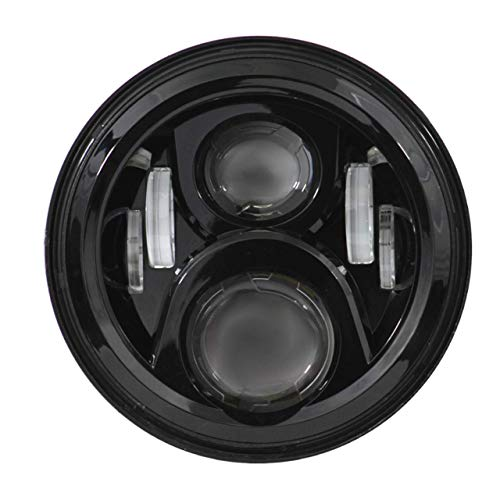 Eagle Lights 8700G2 7 inch Round Generation 2 LED Headlight for Harley Davidson (Black)