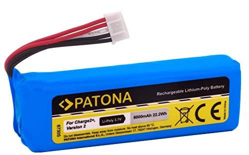 PATONA 6730 - Batería de repuesto para JBL GSP1029102R P763098 (6000 mAh) compatible con JBL Charge 2+, Charge 2 Plus y Charge 3 versión 2015