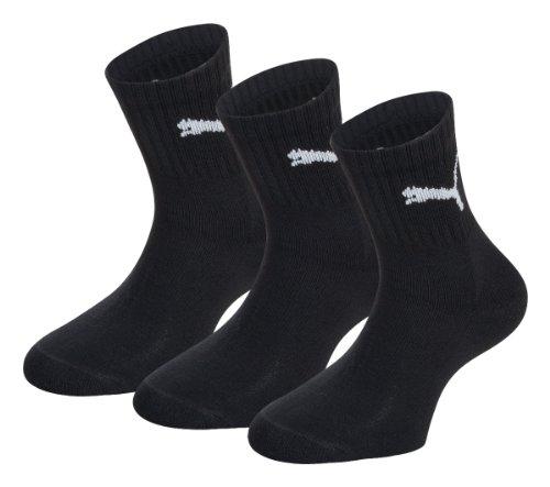 PUMA Short Socks Crew 3P Unisex Calzini, Nero (Black), 47-49 Uomo