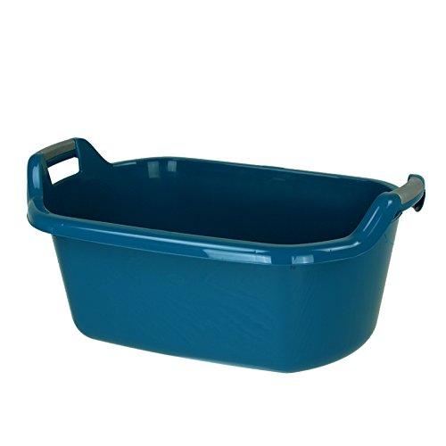 Curver Wäschewanne 35L 65,5x42x32cm blau Wäscheschüssel Wäschekorb Wäsche Waschküche