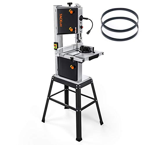 "TACKLIFE Bandsaw, 3.5A 10"" Two blades and Two scales Bandsaw, 2160/3150FPM, Removable LED- PBS01A"