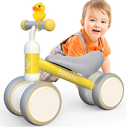 Baby Balance Bike Toys for 1 Year Old Gifts Boys Girls 10-24 Months Kids Toy Toddler Best First Birthday Gift Children Walker No Pedal Infant 4 Wheels Bicycle
