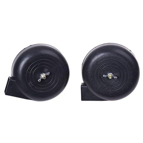 Sodial (R) - Silenziatore per compressore ad aria di ricambio, 16 mm, filettatura maschio, 2 pezzi, colore nero