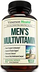 WHY CHOOSE US: Lethargic? Zero Motivation? Unsatisfactory Health? Vimerson Health may have you feeling healthier and more energized* with this perfectly combined daily multivitamin and mineral supplement; Our blend enhances energy and improves mood*,...