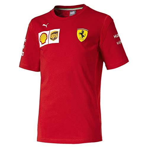 PUMA Ferrari Jungen Team T-Shirt Rosso Corsa 140