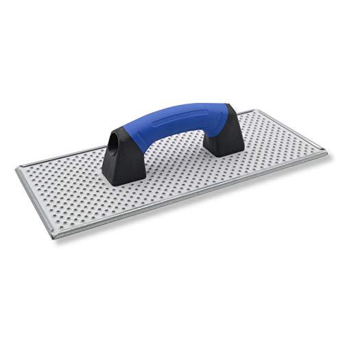 DEWEPRO® WDVS + Porenbeton Schleifbrett - Egalisierungsbrett - Raspelbrett mit verzinktem Stahlblech-Raspelbelag - 380x160mm