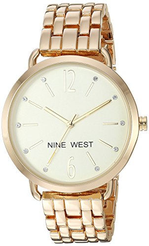 Nine West Reloj analógico para Mujer de Cuarzo japonés con Correa en Aleación NW/2150CHGP