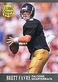 Brett Favre Unsigned 1991 Fleer Rookie Card