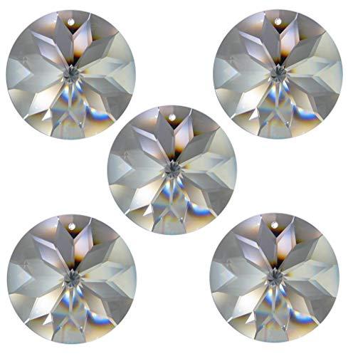 5x Regenbogenkristall Rivoli Sonne Ø 45mm Crystal 30% PbO ~ Fengshui Suncatcher