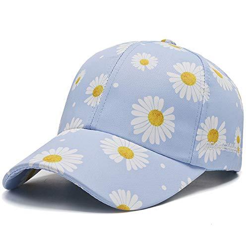 wtnhz Fashion items Daisy baseball cap female Korean version full print chrysanthemum Korean hat spring and summer sunscreen cap