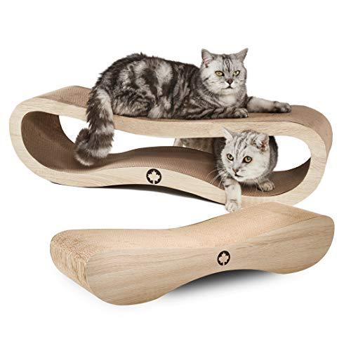 CanadianCat Company ® | MEGA SPARPACK XXL | Orbit und Sattelite 2.0 im Set | natur | mit Katzenminze | Qualitäts-Pappe | 2 Kratzmöbel / Kratzbretter