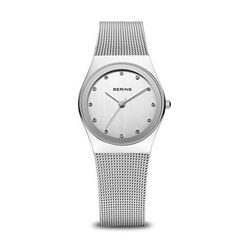 BERING Damen Analog Quarz Classic Collection Armbanduhr mit Edelstahl Armband und Saphirglas 12927-000