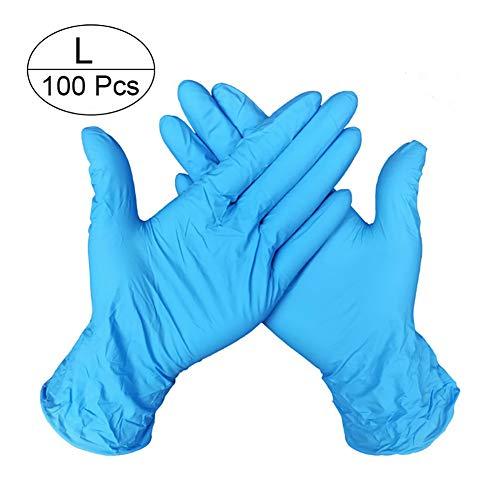 Nitril-Einweghandschuhe, puderfrei, Lebensmittelqualität, 100 Stück, hellblau-l, 100