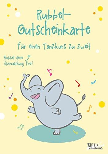 ART + emotions Rubbel- Gutscheinkarte - für einen Tanzkurs zu zweit - Überraschungskarte Gutschein Kratzkarte Wunschkarte