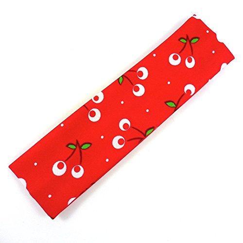 rougecaramel - Accessoires cheveux - Bandeau enfant motif cerise - rouge