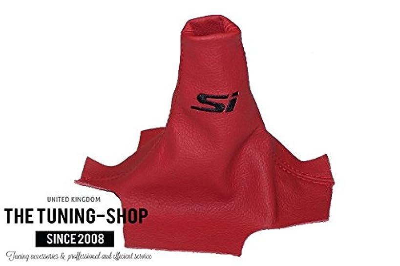 For Honda Civic Sedan 2012-15 Shift Boot Red Leather