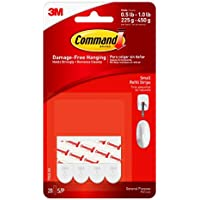 20-Count Command Replacement Strips, Small, White