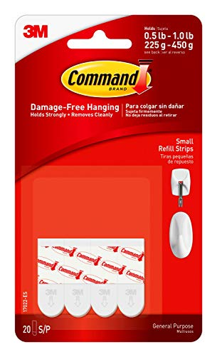 20-count 3M Command Refill Strips (Small)  $2.38 at Amazon