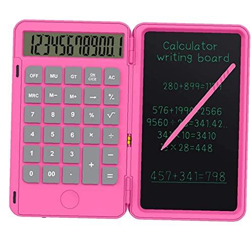 Sanfiyya Calculadora Calculadora LCD Tableta de Escritorio Plegable Junta de Escritura a Mano para Niños Adultos Home La Escuela Uso de la Oficina Rose Red