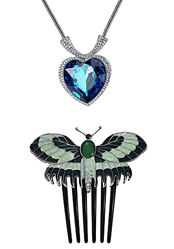 Titanic butterfly hair comb