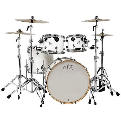 "DW Design 22"" White Gloss Shell-Set 4-Pcs. · Schlagzeug"
