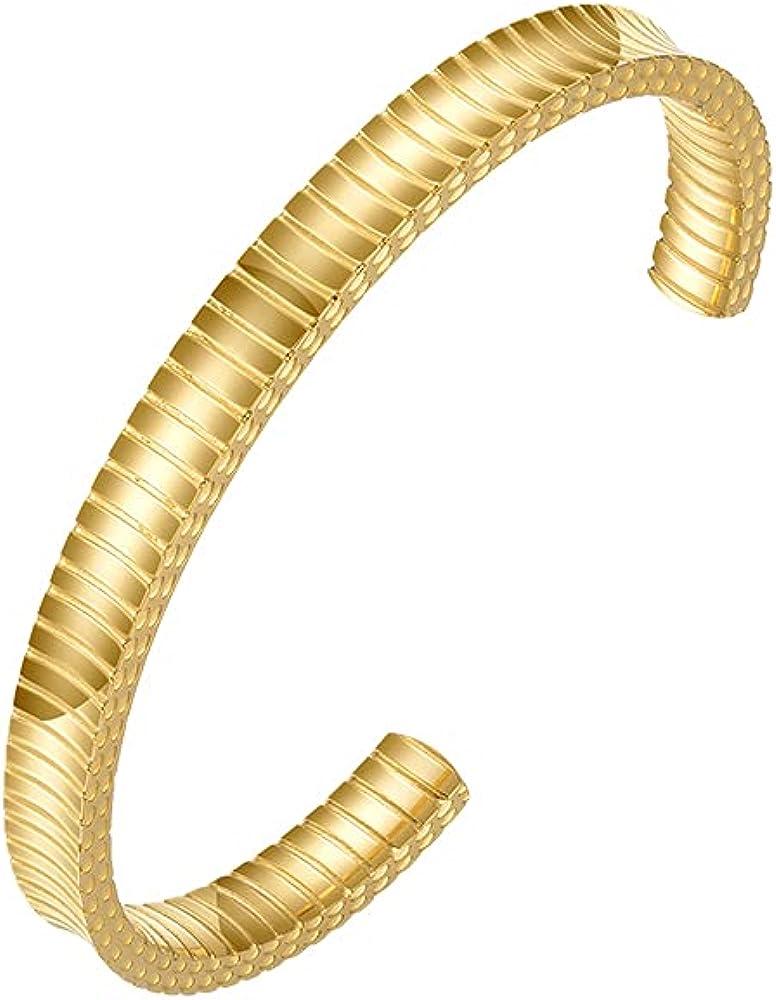 Ranking TOP6 EF Limited price ENFASHION Personalitized C Shaped Simple Bangle Cuf Bracelet